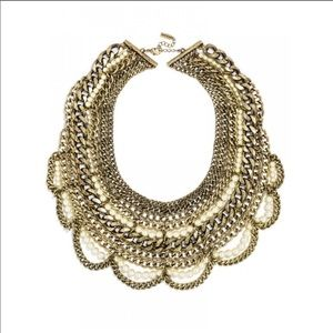 NWT BaubleBar Pearl Courtney Bib Necklace